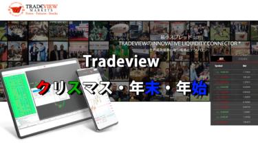 Tradeview(トレードビュー)取引時間解説!クリスマスと年末年始に注意!
